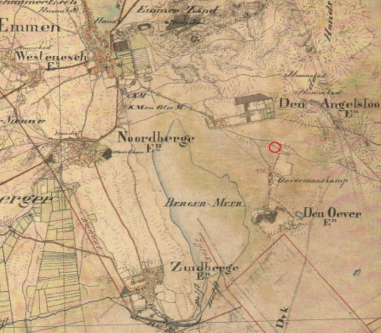 Topografische militaire kaart uit 1830-1850